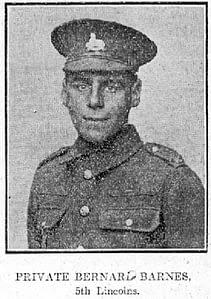 Private Bernard Barnes - 5th Lincolns