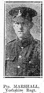 Private Frank Marshall - Yorkshire Regiment