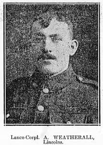 Lance-Corporal A Weatherall - Lincolns