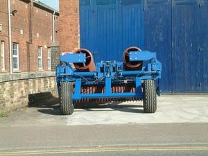 Edlington Fold Back cambridge roller in transport position