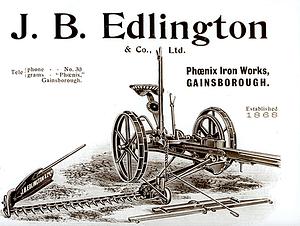 J B Edlington Gainsbro Root Drill