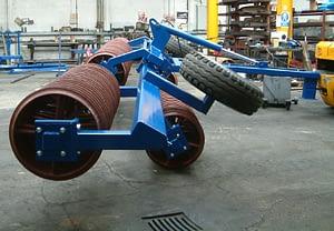 Edlington 9.2m Fold Back Cambridge Roller - First Part of Moving into Transport Position