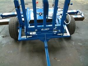 Edlington Trailed WeedSwiper showing back of the machine